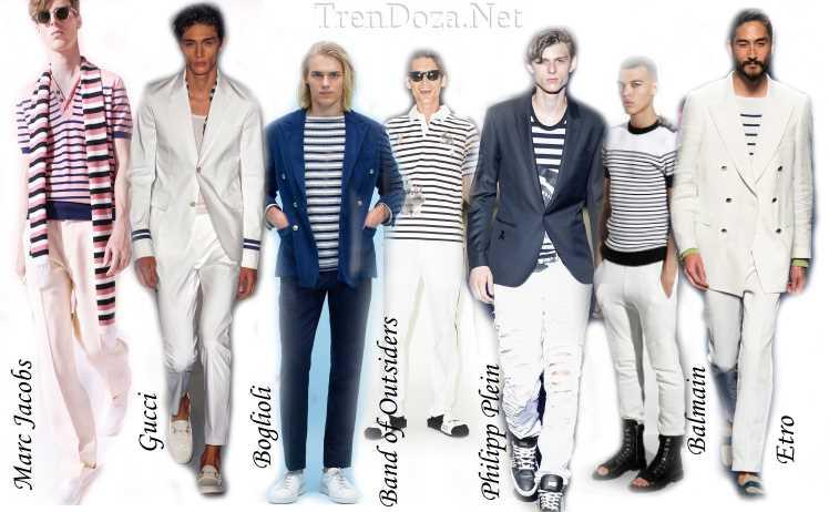 Морской стиль в мужской моде на весну 2015 года