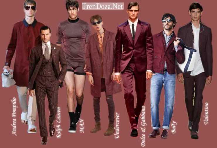 Marsala оттенок в мужском гардеробе на весну 2015 года