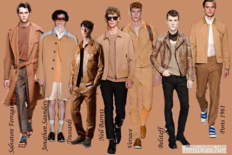 Песочные мужские цвета весна лето 2015 - Sandstone