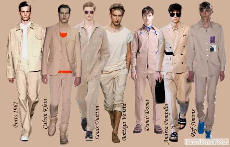 Бежевые мужские цвета весна лето 2015 - Toasted Almond