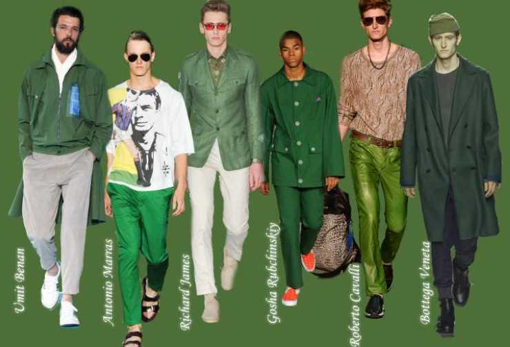 Зеленые мужские цвета весна лето 2015 - Treetop
