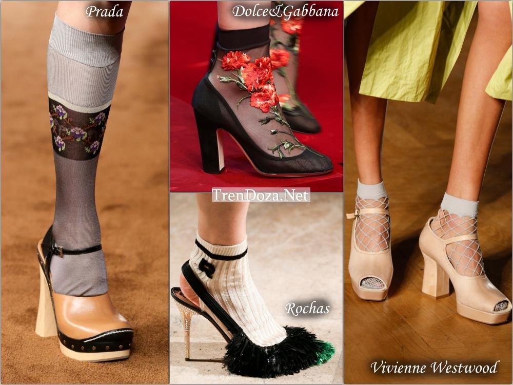 Модная обувь весна 2015 носится с носками