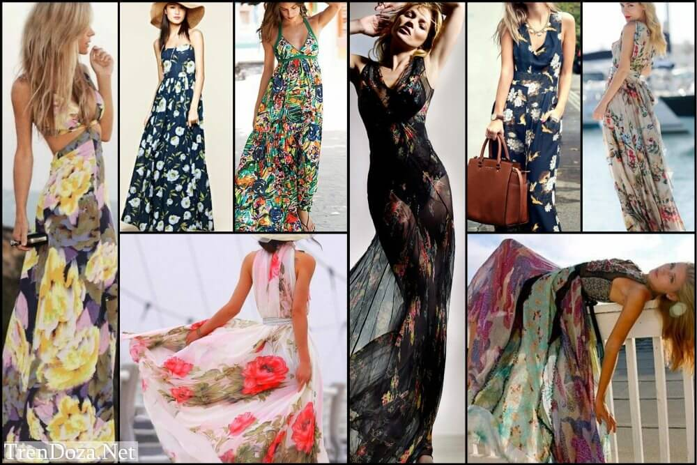 Цветочное платье - с чем носить?