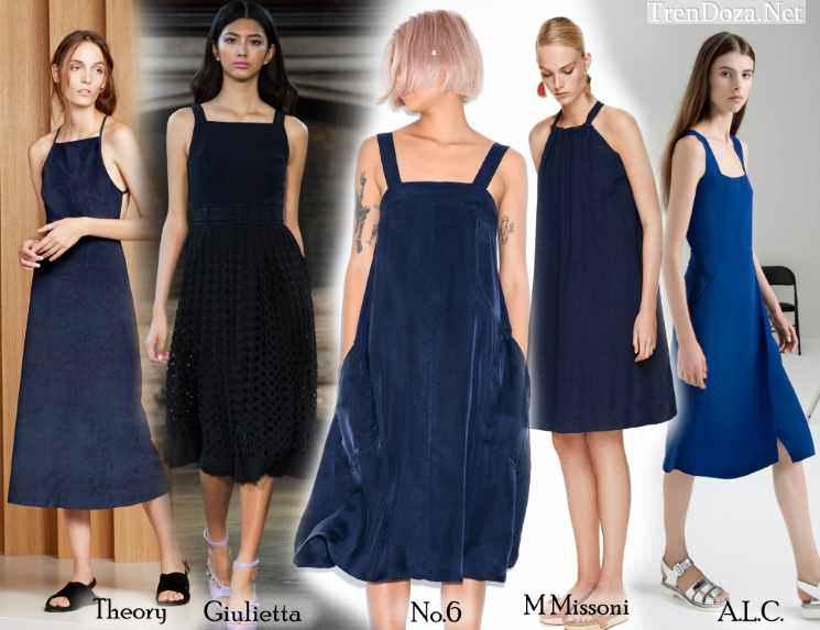 Синие сарафаны 2015 фото моделей для повседневной носки