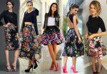 Цветочная юбка с чем носить и как сочетать?