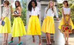 Желтая юбка — с чем носить и как сочетать?