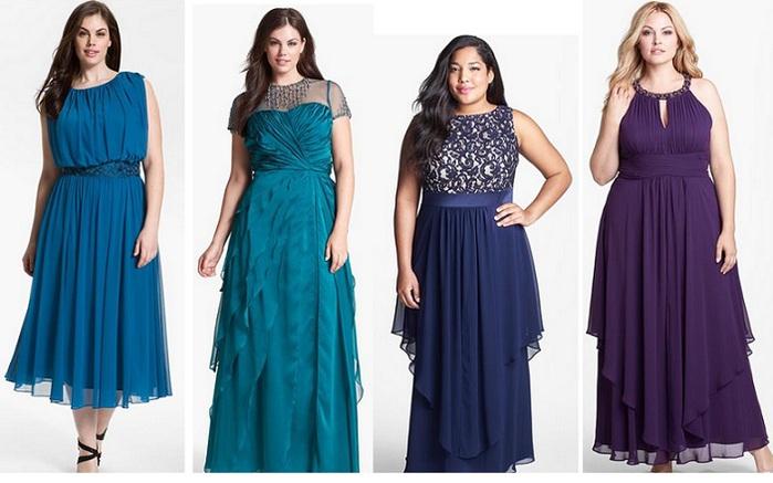 Платья больших размеров: модные тенденции 2016-2017, критерии выбора