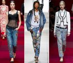 Модный тренд этого года — джинсы с вышивкой