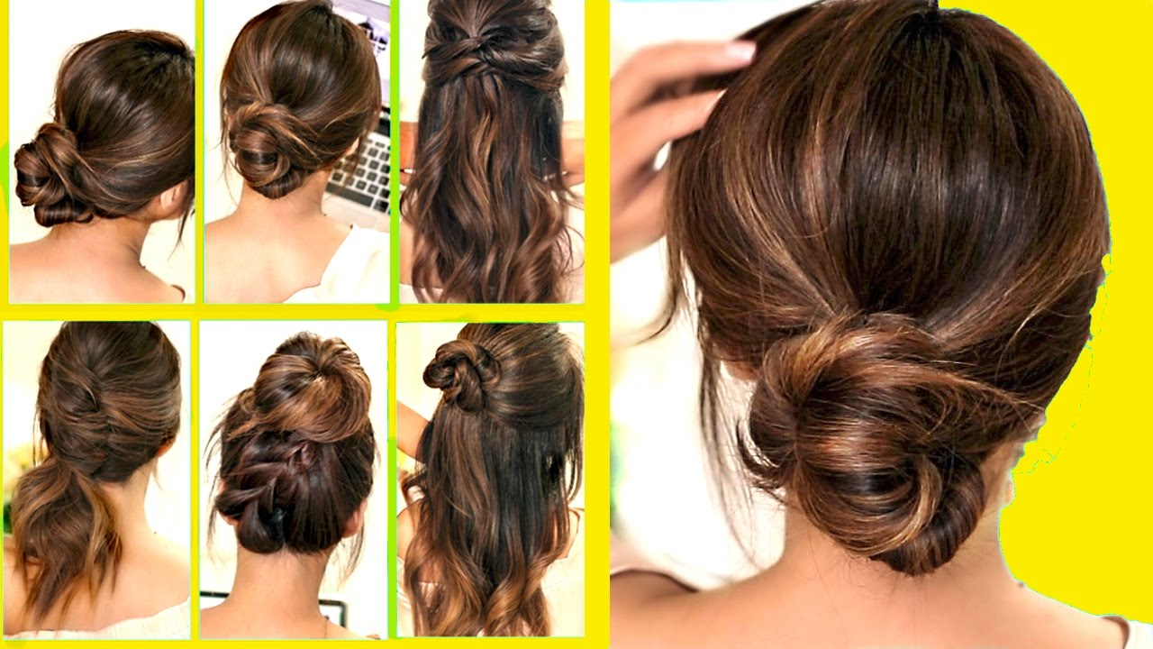 TOP 10 ★ LAZY — RUNNING LATE HAIRSTYLES & HACKS for FRIZZY HAIR — EASY! ?  | Spring Peinados