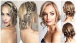 Romantic Wedding Prom Hairstyle For Long Hair Medium Hair New Year 2017