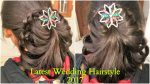 Simple Hairstyle for Wedding | Medium & Long Hair Bridal Hairstyle ( 2017 )