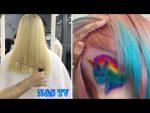 Экстремальные  Длинные Стрижки Волос/Удивительное ЯРКОЕ Окрашивание Волос/Профессионалы 80 Уровня