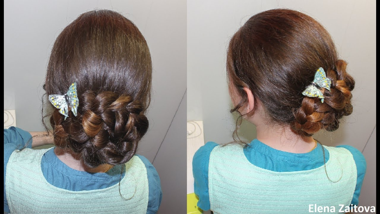 Причёски на 1 сентября с резинками