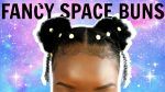 CUTE HairStyle For SHORT 4C Natural Hair | FANCY Space Buns | LifeAsJaimisha