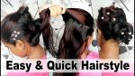 Quick and Easy Hairstyle for long and short  hair new 2017