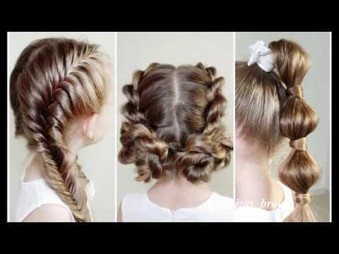 Прически на 1 СЕНТЯБРЯ! — Красивые прически в школу. Beautiful hairstyles for 1 september!