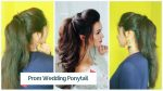 ★Easy Prom Ponytail Hairstyle for Bride | Fancy Wedding Half Up-Down Hair Tutorial