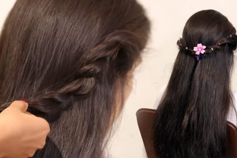 Easy Prom Ponytail Hairstyle For Bride In Wedding | Fancy Half Wedding Up-Down Hairstyles Tutorials