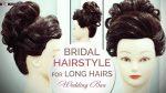 Bridal Hairstyle Wedding  Bun Tutorial For Long Hair | Step By Step Wedding Hair Bun Updo Tutorial