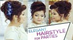 Easy & Elegant Bun Hairstyle  Updo for Parties | Hairstyle Tutorial for Prom Night and Reception