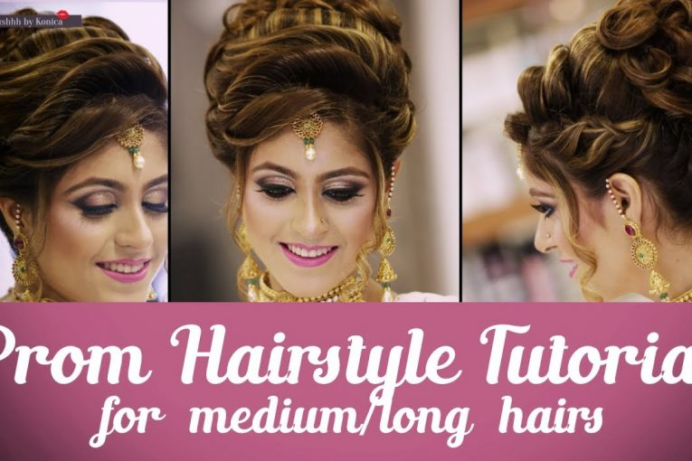 Hairstyle Tutorial for PROM NIGHT | Step By Step Hair Tutorial for Long Hair | Krushhh by Konica