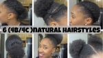 6 Natural Hairstyles On Short/Medium Hair (4b/4c)