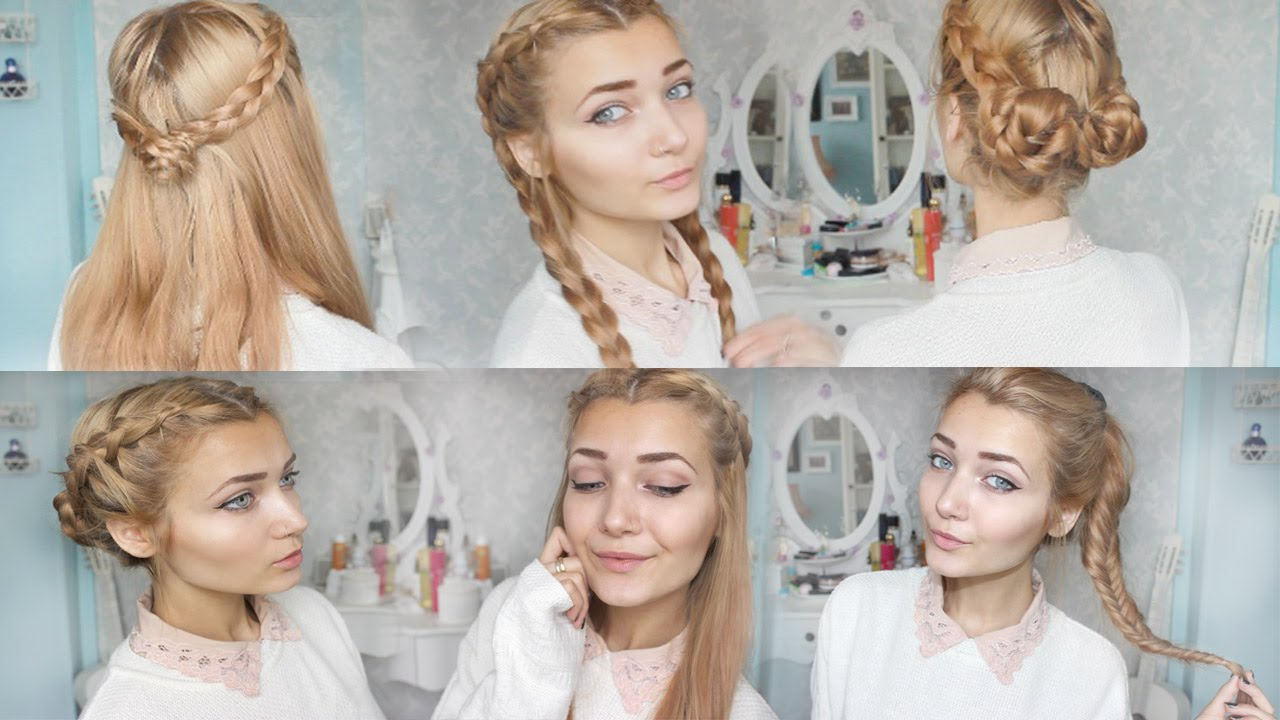 Easy braided hairstyles for school