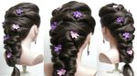 Easy bridal prom hairstyle for long hair tutorial