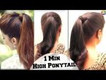 Simple 1 Minit Ponytail Hairstyles for Thin Hair // Hairstyle Tutorials 2017 —  YouTube 360p