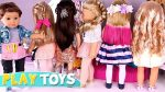 Baby Doll Hair Cut Shop — Play American Girl Dolls DYI hair styles salon Play Toys