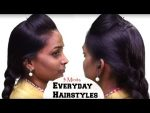 3 Minits Everyday Hairstyle With Front Puff  // Simple   Hairstyle Tutorials  — YouTube-2017.