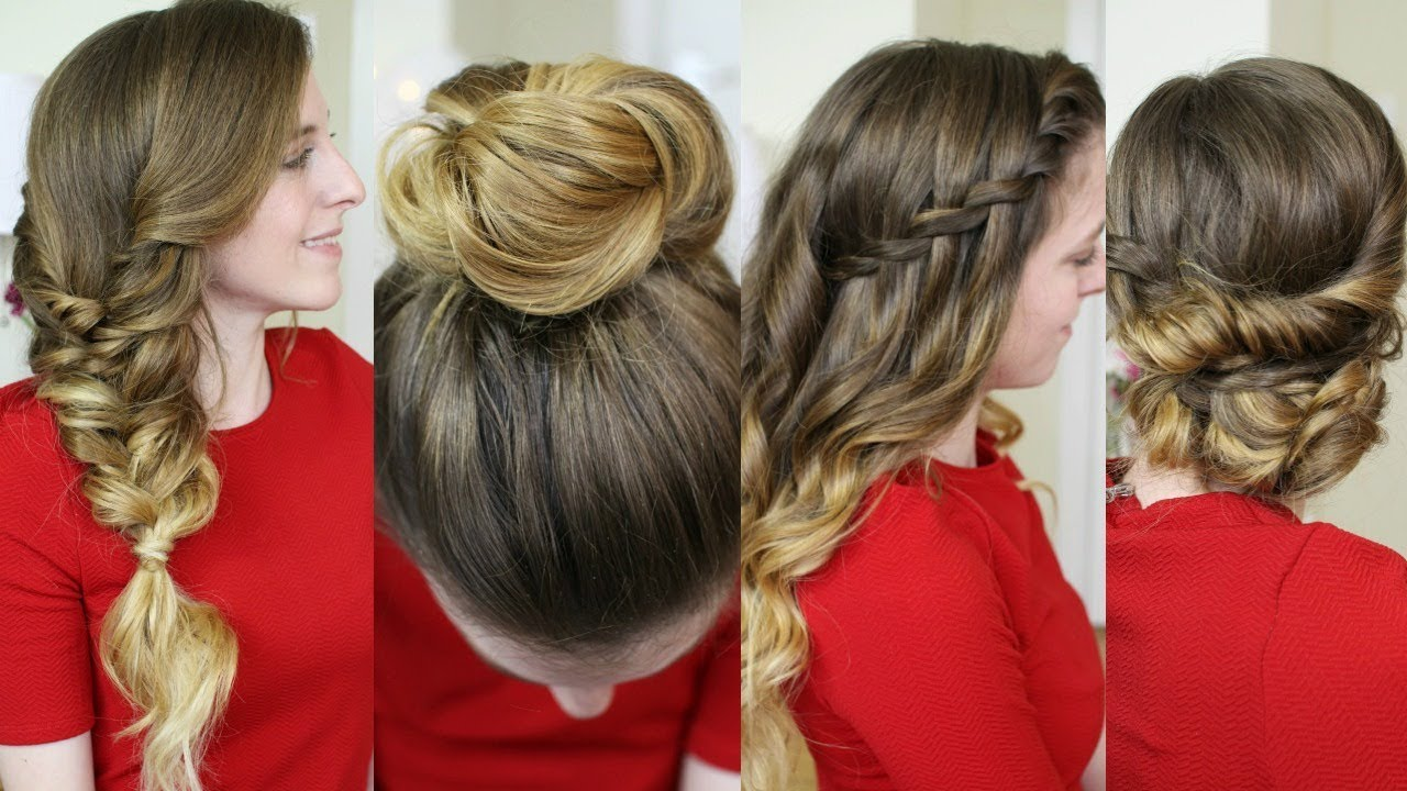 4 Christmas Morning Hairstyles | Christmas Day 2017 | Braidsandstyles12
