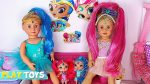 Baby Doll Hair Cut Shop & Make up Toys! Shimmer Shine DYI Hairstyle Make up for American Girl dolls