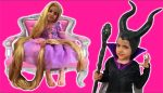 Rapunzel's Hair Disaster — TANGLED BY MALEFICENT WITH MAGIC! Princesses In Real Life