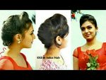 French Roll / Twist Hairstyle with symmetrical puff | Party Hairstyle for long gown/skirt outfits