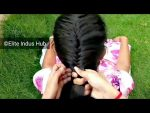 Trendy hairstyle for girls | Basic French Fishtail Braid