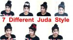 7 Best and Easy Juda Hairstyle | Bridal Bun hair style | Juda Hairstyle | short hairstyles