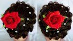 Beautiful Bridal Bun    juda hairstyle    natural hair styles    easy hairstyles    girls hairstyle