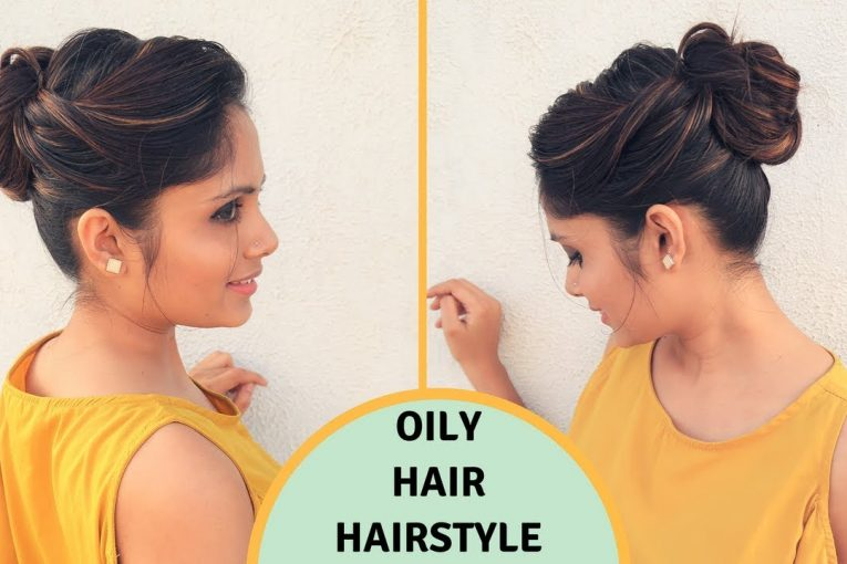 Quick & Easy Hairstyle For Oily Hair   Oily Hair  Hairstyle for Holi   komal's hair