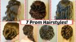 7 Prom Hairstyle Ideas! Pretty Updos, Half Ups and Braids