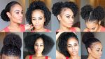 10 QUICK & EASY Natural Hairstyles UNDER 60 seconds! for SHORT/MEDIUM natural hair