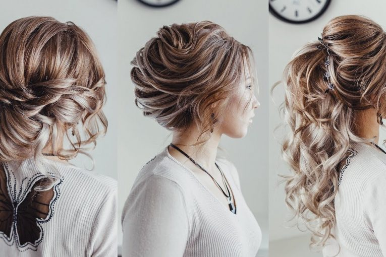 3 Wedding hairstyle ideas with extensions | Loose bun French twist | Curled Ponytale