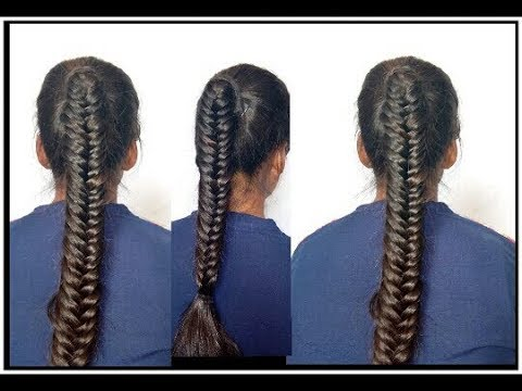 Easy hairstyle Franch hairstyles everyday fancy new hairstyles School girl hairstyle