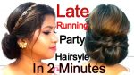 Late Running Elegant Party Hairstyle IN 2 MINUTES || Namrata Singh