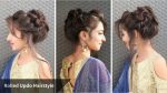 Heatless Messy Rolled Updo Hairstyle For Eid/ Hairstyle For Gown/Sarri