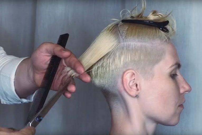 Undercut. Короткая женская стрижка с несведенными зонами в технике «КОНСТРУКТОР»