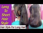 Quick and easy hairstyle for long hair/party hairstyle/college going girls hair style/  Seema jaitly