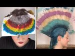 УДИВИТЕЛЬНОЕ  НЕОБЫЧНОЕ Цветное Окрашивание Волос/Вы Такое не Видели Раньше/Профессионалы 80 Уровня