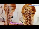 Летние объёмные коосы, для длинных волос  Красивые причёски  Trenza Braid Hair tutorial
