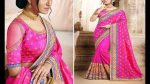 Top 10 Pink Colour Fancy Sarees Collection With Blouse Designs